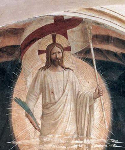 主の復活[部分](フラ・アンジェリコ画)