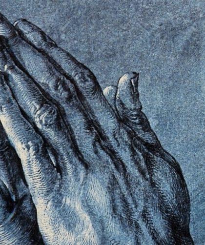 祈る手[部分](デューラー画)