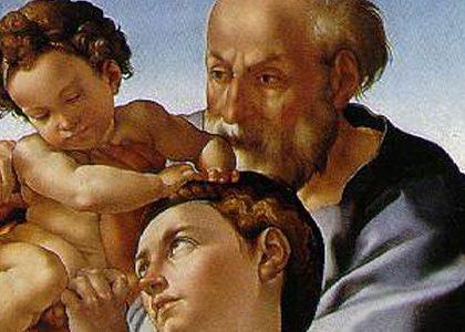 アイキャッチ用 聖家族(ミケランジェロ画)