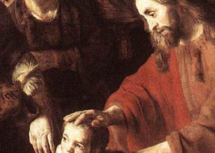 アイキャッチ用 子供たちを祝福するイエス
